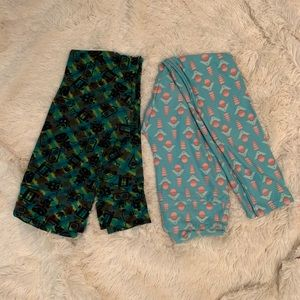 LulaRoe Robot and Geometric Leggings - One size